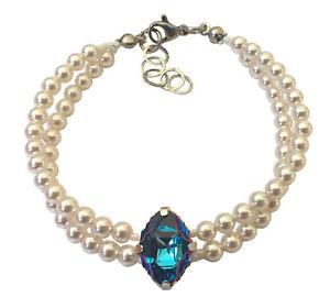 【送料無料】ブレスレット ブレスレットスワロフスキースチールbellissimo bracciale perle 100 di cristalli originali swarovski ,acciaio 316l