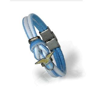 【送料無料】ブレスレット ラツィオカフノードlazio bracciale ecopelle prod uffmod nodo con aquilotto e scudetto centrale