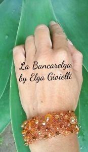 【送料無料】ブレスレット カフオレンジブレスレットbracciale artigianale in filigrana di rame e cristalli ambra bracelet copper