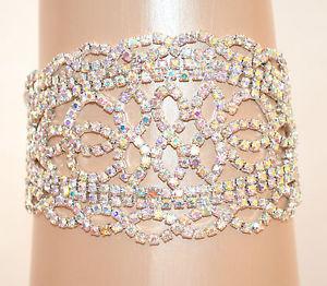 【送料無料】ブレスレット シルバーブレスレットセレモニーbracciale argento donna strass boreali cristalli elegante cerimonia sposa e105