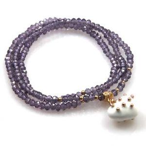 【送料無料】ブレスレット ペンダントゴムネックレスbracciale collana elastico con cristalli e ciondolo cuore bcc1382