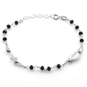 【送料無料】ブレスレット シルバーブレスレットbracciale rosario in argento 925 bcc1390