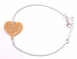 【送料無料】ブレスレット シルバーハートカフbracciale amore con cuore e scritta love in argento 925