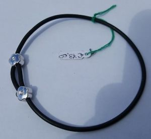 【送料無料】ブレスレット カフブレスレットゴムラバーユーロbracciale braccialetto gomma caucciu brillanti argento valore 73 euro