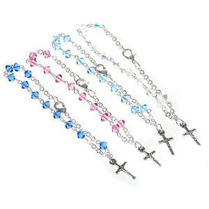 【送料無料】ブレスレット ブレスレットシルバースワロフスキーbracciale rosario argento 925 e swarovski
