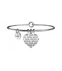 【送料無料】ブレスレット カフコレクションボーダーオリジナルkidult bracciale love collection cuore amore senza confini 231606 originale nuo