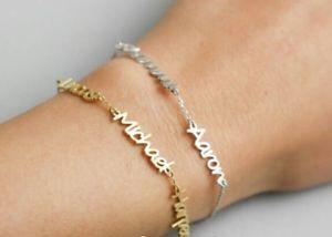 【送料無料】ブレスレット シルバーカスタマイズブレスレットbracciale con nomi personalizzabile in argento 925 family uomo donna