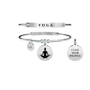 【送料無料】ブレスレット カフスピリチュアリティスチールヨガbracciale kidult spirituality acciaio 316l 731284 yoga