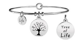 【送料無料】ブレスレット ブレスレットスチールライフkidult bracciali acciaio nature albero della vita 231629