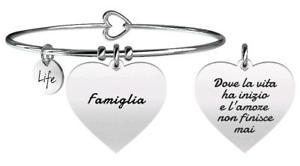 【送料無料】ブレスレット ブレスレットスチールkidult bracciali acciaio family cuore famiglia 731259