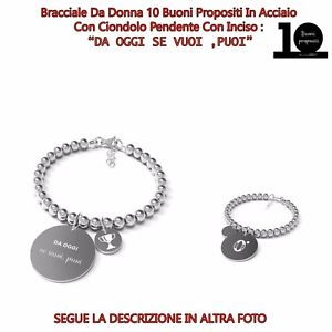 【送料無料】ブレスレット カフbracciale 10 buoni propositi da oggi se vuoi puoi b4867 by annabiblo