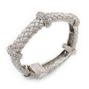 【送料無料】ブレスレット ゴールドブレスレットalla moda intrecciato strass magnetico braccialetto in oro silvertone 17cm lunghezza