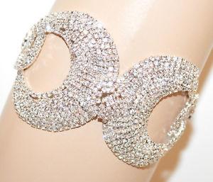 【送料無料】ブレスレット シルバーブレスレットラインストーンクリスタルbracciale argento strass donna cristalli cerchi avambraccio sposa cerimonia g66