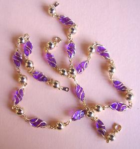【送料無料】ブレスレット ブレスレットメタルドールw51  collier et bracelet verre et metal dore