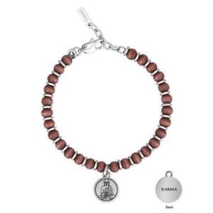 【送料無料】ブレスレット スチールカフカルマ2 jewels bracciale karma in acciaio 316l pvd nero e legno 232003
