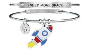 【送料無料】ブレスレット ブレスレットスチールシンボルロケットスペースkidult bracciali acciaio symbols razzo i need more space 731320