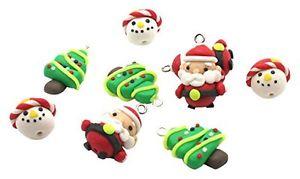 【送料無料】ブレスレット クリスマスビーズミックスパックカラーbeads unlimitedpolymer clay mix di natale, confezione da 10, colore b3w
