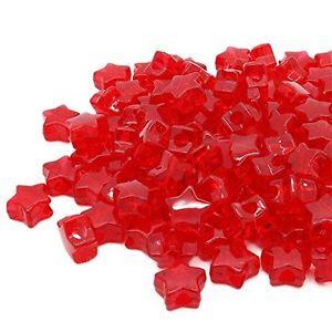 【送料無料】ブレスレット beads unlimitedplastica trasparente star pony, rosso, 13mm a2t