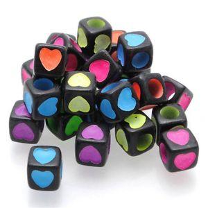 【送料無料】ブレスレット ハートチェーンブレスレットビーズa forma di cuore zalago wuerfel perline perle per catena bracciali 7 mm, u8y