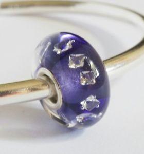 【送料無料】ブレスレット ガラスビーズコアブレスレットartisan glass bead *6*, small silver core compatible with trollbeads bracelet