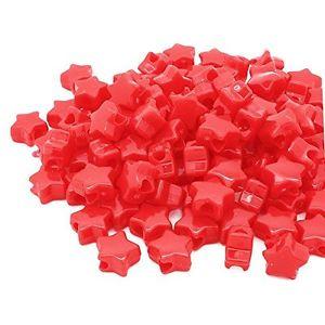 【送料無料】ブレスレット beads unlimitedplastica opaca star pony, rosso, 13mm n9o