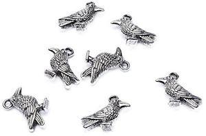 【送料無料】ブレスレット ビーズバッチperline illimitato 14 x 18 mm a forma di metallo argento corvini lotto di s9e