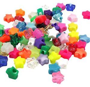 【送料無料】ブレスレット ビーズプラスチックポニーミックスbeads unlimited plastica star pony, mix, 13mm q2p