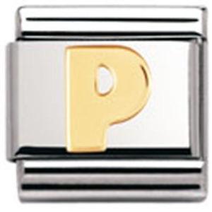 【送料無料】ブレスレット クラシックnomination original classic lettera p letter p
