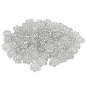 【送料無料】ブレスレット ビーズプラスチックポニーシルバーbeads unlimitedglitter in plastica star pony, argento, 13mm b0v