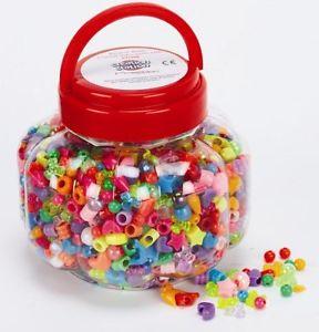 【送料無料】ブレスレット ビーズバレルマルチビーズcreation station barrel of beads approx 1200 multi coloured beads in a m7j