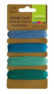 【送料無料】ブレスレット クリエイティブvaessen creative filo di canapa, colore bluverde, 4 x 10 m b5x