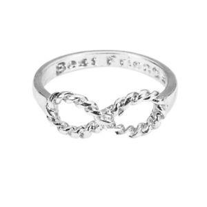 【送料無料】ブレスレット pixnor gli amanti bowknot infinity migliori amiche inscritto dito anello x0c