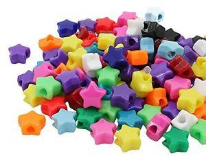 【送料無料】ブレスレット ビーズプラスチックポニーミックスbeads unlimited plastica opaca star pony, mix, 13mm f1o