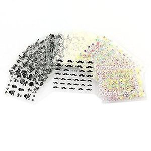 【送料無料】ブレスレット ステッカーチップネイルアートシートtinksky 50 fogli di colori misti 3d design autoadesivi tip nail art t4f