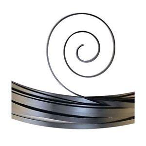 【送料無料】ブレスレット クリエイティブアルミニウムフラットワイヤーvaessen creative alluminio, filo piatto, genitori, nero, 10 x 1 mm 2,5 m y0j