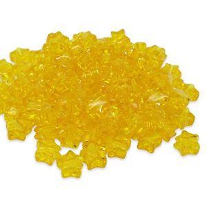【送料無料】ブレスレット ビーズプラスチックポニーbeads unlimited plastica trasparente star pony, giallo, 13mm e7a