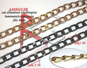 【送料無料】ブレスレット メートルバッグアルミチェーンロング3 mt catena alluminio mm24x15x4 schiacciata lunga per borse e bijoux vari colori