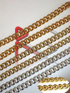 【送料無料】ブレスレット メートルチェーンアルミメッシュ3 mt catena alluminio grossa maglia normale 18x15x4mm anallergica