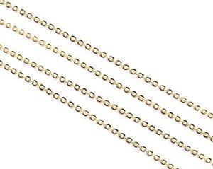 【送料無料】ブレスレット beads unlimited set di 10 catenine con maglie da 2 mm, placcate in oro b7n