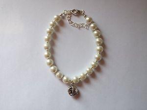 【送料無料】ブレスレット スターリングガラスビーズホワイトエレファントブレスレットnuova inserzioneargento sterling perle di vetro bianco elefante bracciale con charm nuziale