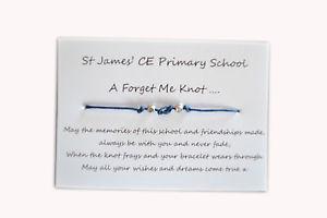 【送料無料】ブレスレット ブレスレットカスタムブレスレットbraccialetti dellamicizia desiderio, forget me knot, personalizzato braccialetti x 30