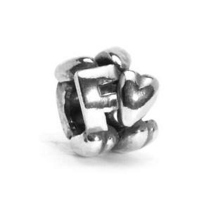 【送料無料】ブレスレット シルバービードtrollbeads bead in argento lettera iniziale f tagbe10065