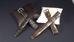 【送料無料】ブレスレット ブレスレットクロコダイルノワールエマロンbracelet montre en 17mm en crocodile,disponible en noir et marron