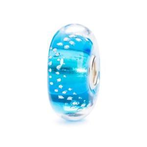 【送料無料】ブレスレット シルバーターコイズガラストレースビードtrollbeads bead in vetro tracce dargento turchese tglbe10198