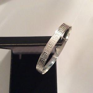 【送料無料】ブレスレット ソリッドファインシルバーブレスレットギリシャsolido argento finissimo donna 7 mm greco chiave in espansione braccialetto