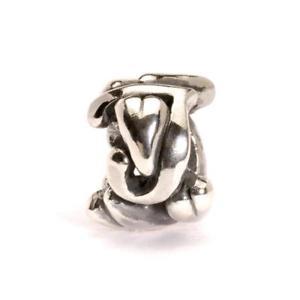 【送料無料】ブレスレット シルバービードtrollbeads bead in argento lettera iniziale j tagbe10069