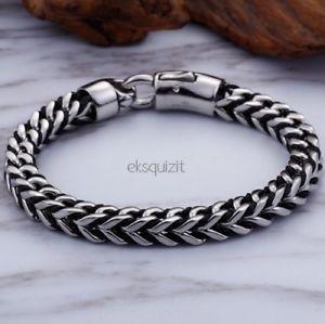 【送料無料】ブレスレット ヘビシルバーブラックブレスレットtrama grossa squared serpente braccialeda uomo argento amp; nero braccialetto con giftbox