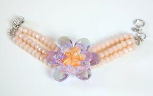 【送料無料】ブレスレット バトラーウィルソントリプルストランドブレスレットピンクbutler amp; wilson naturali cristalli triple strand bracciale unico fiore rosa a pi