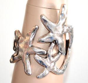 【送料無料】ブレスレット シルバーブレスレットスレーブブレスレットファッションbracciale argento donna stelle mare rigido a schiava etnico bracelet moda a70