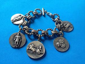 【送料無料】ブレスレット ビンテージブレスレットブレスレットvintage bracelet mtal argent charmes pices mdailles bracelet